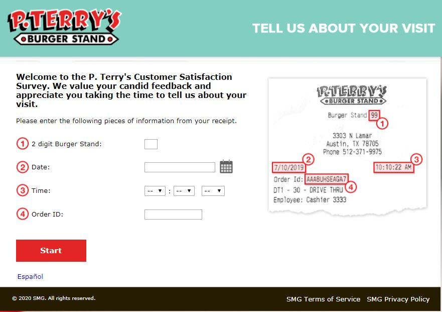 www.Myptvisit.smg.com survey homepage