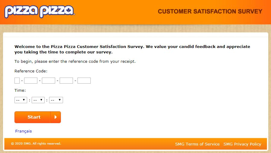www.pizzapizzasurvey.ca Homepage