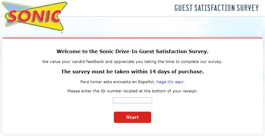 sonic survey step1