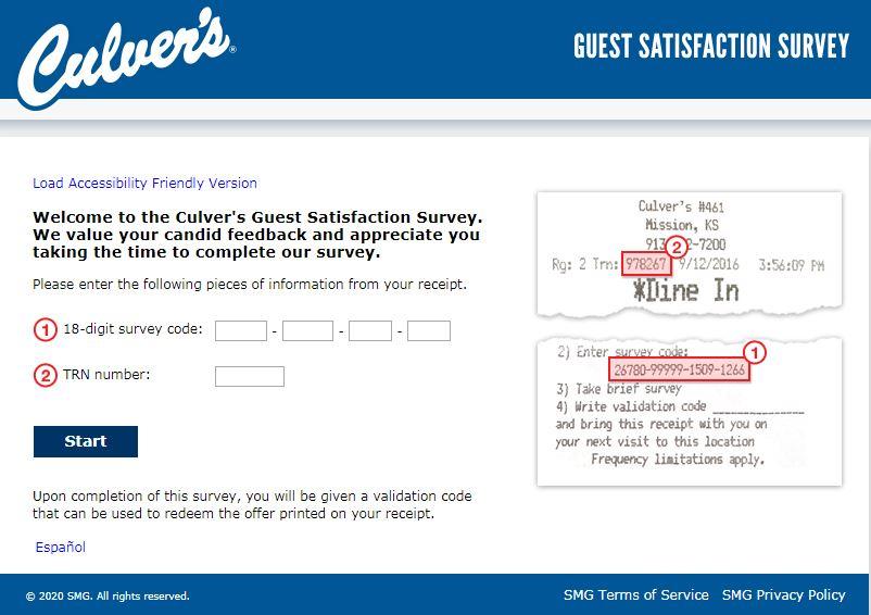 www.tellculvers.com survey homepage