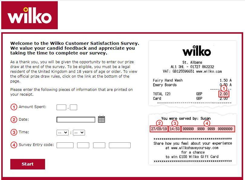 tell wilko survey